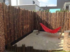 Bambusstangen Bambusrohre Bambus Wulung Tiger Apus