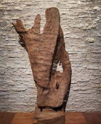 Teak Holz Wurzel Skulptur Kunst Treibholz Statue Deko Holzobjekt Aufsteller 1914