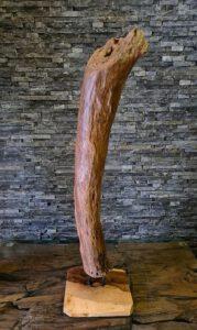 Holzskulpturen Holzobjekte Treibholz Schwemmholz Teak Holzdeko Ho.2118