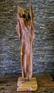 Holzskulptur Holzobjekte Treibholz Schwemmholz Teakdeko abstrakt Ho.2119