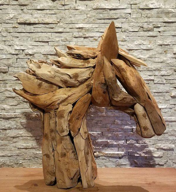 Holzskulptur Treibholz Holzobjekt Holzdeko