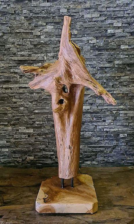 Holzskulpturen Holzskulptur Holzobjekte Treibholz Schwemmholz Deko Statue Wurzeldeko Ho.2098